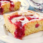 Glazed Cherry Coffee Cake