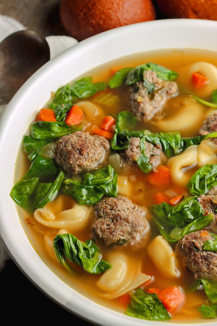 Tortellini Meatball Soup
