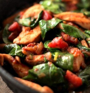 Chicken and Spinach Skillet Dinner