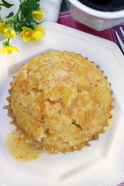 Honey Glazed Carrot Muffins