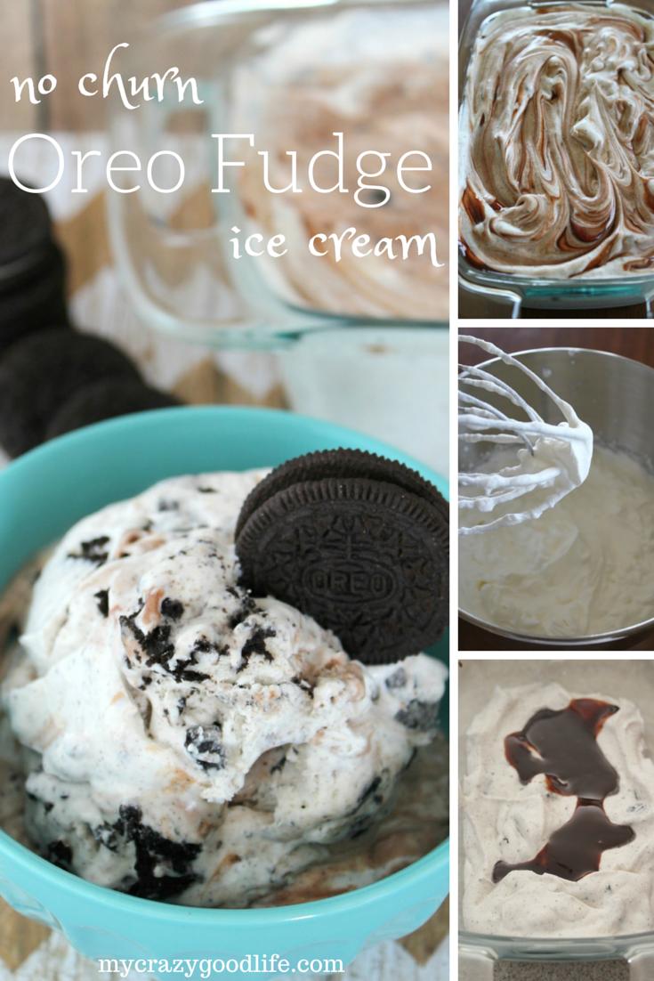 Oreo Swirl No Churn Ice Cream