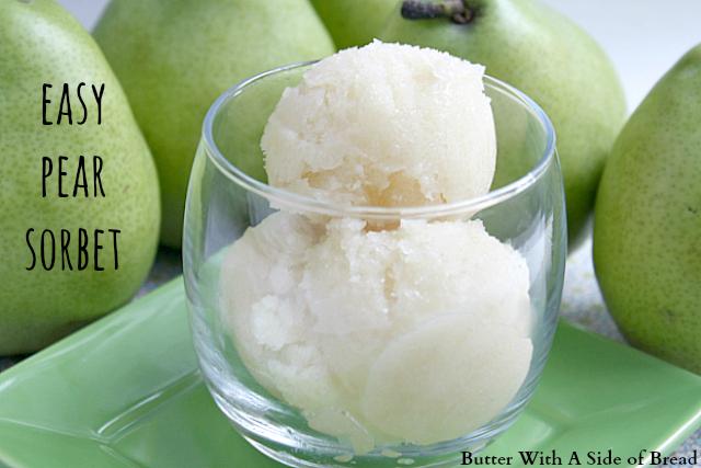 Easy Pear Sorbet