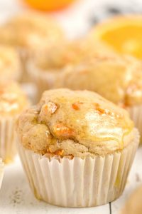 Honey Glazed Carrot Muffins