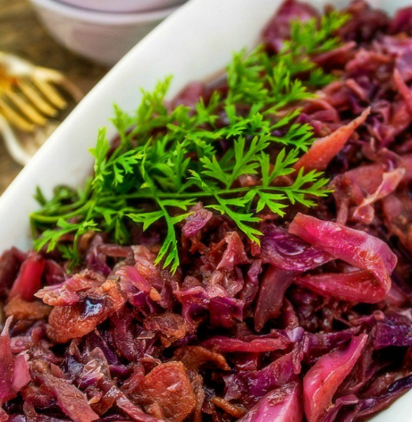 Sauted Red cabbage