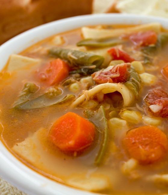 Crock Pot Chicken Noodle Vegetable Soup