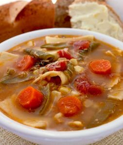 Crock Pot Chicken Noodle Vegetable Soup