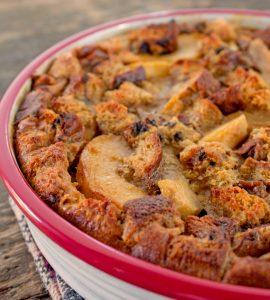 Apple Raisin Bread Clafouti