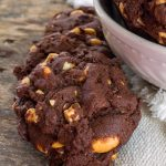Fudgy Chocolate Peanut Butter Cookies