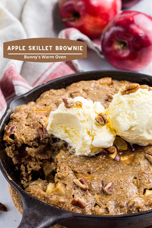 Apple Skillet Brownie