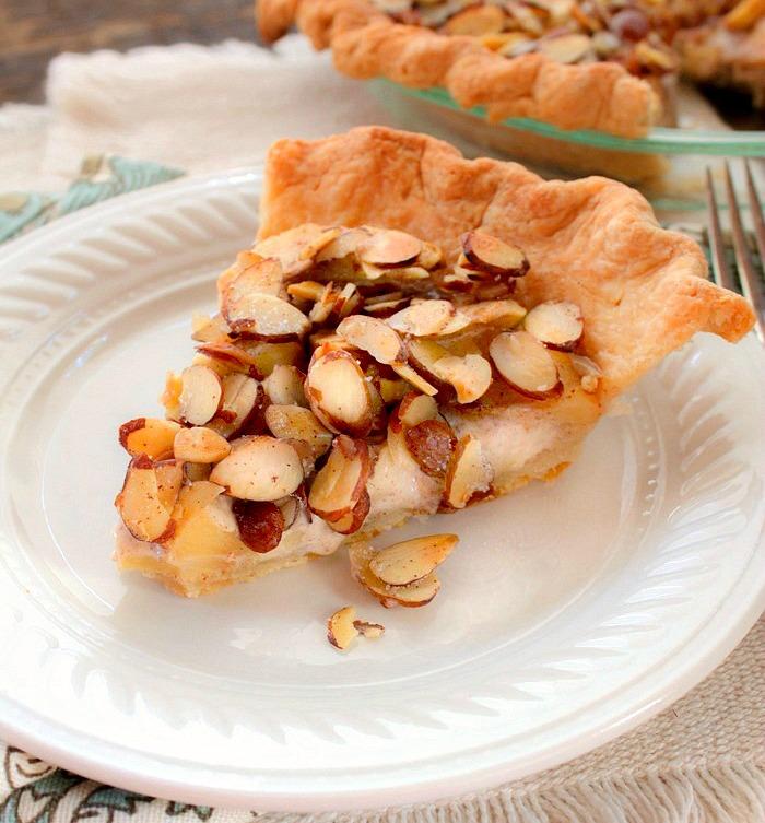 Apple Almond Custard Pie