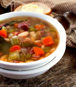 Crock Pot Ham & Bean Soup