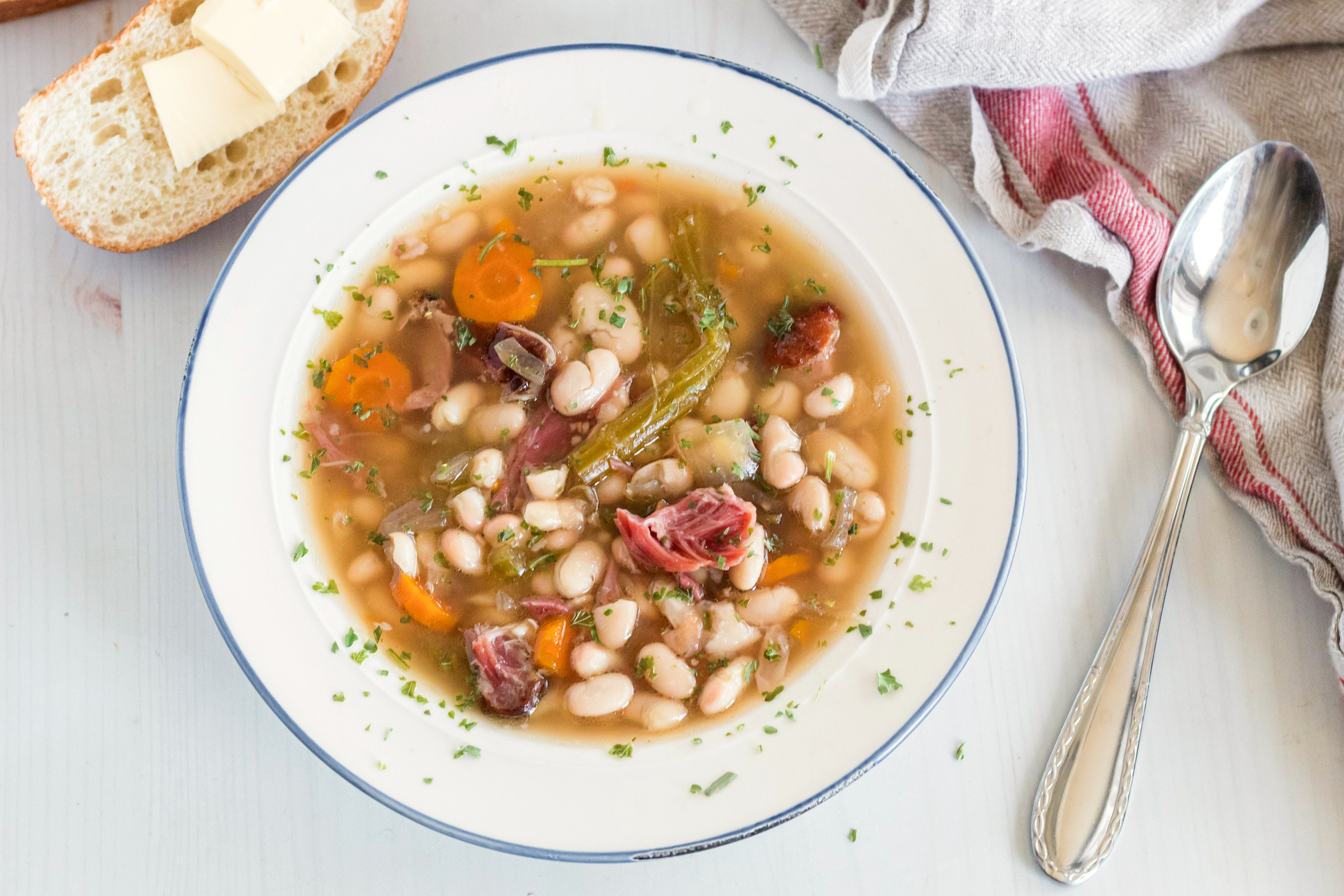 Crock Pot Ham and Bean Soup