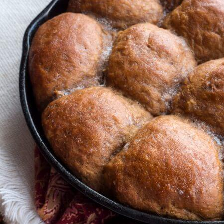 Molasses Cornmeal Skillet Rolls