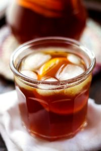 Homemade Orange Flavored Ice Tea