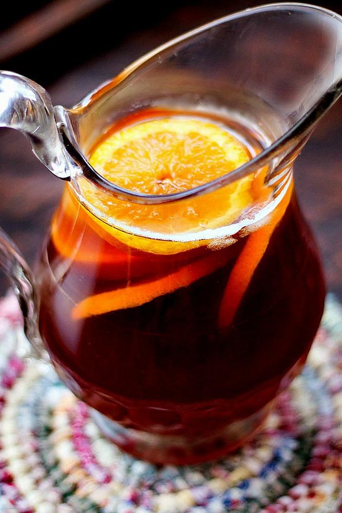 Homemade Orange Flavored Iced Tea