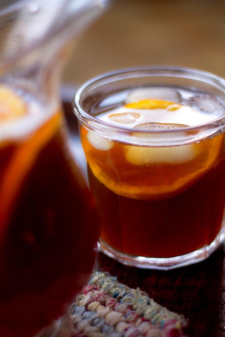 Homemade Orange Flavored Ice Tea