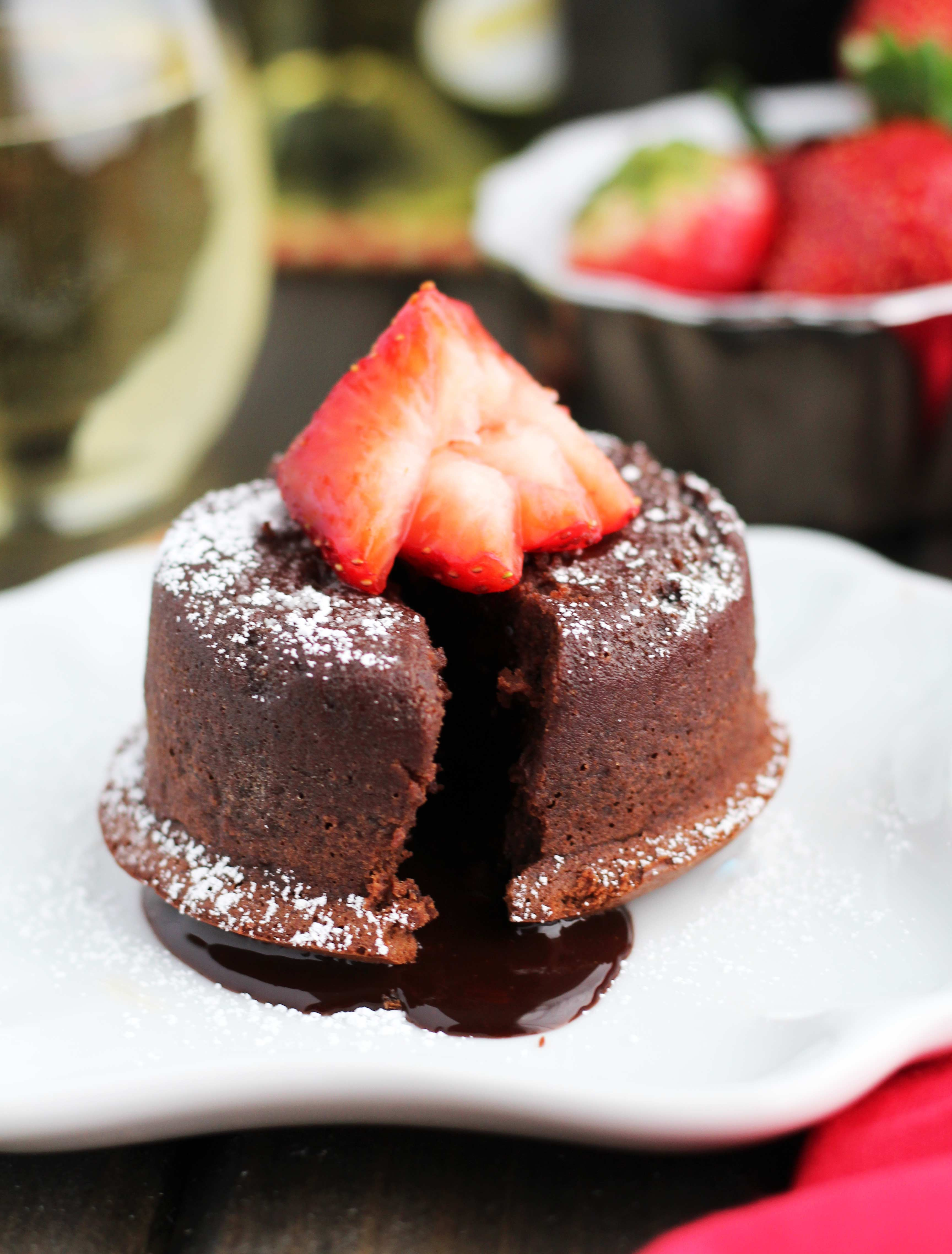No Carb Chocolate Lava Cake