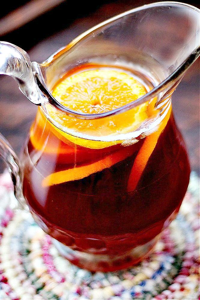 Homemade Orange Flavored Tea