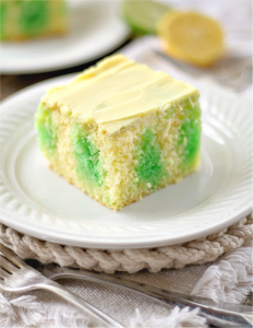 Lemon Lime Poke cake