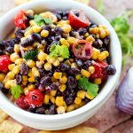 Creamy Black Bean and Corn Dip