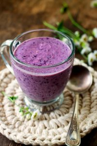Lemon Blueberry Banana Oatmeal Smoothie