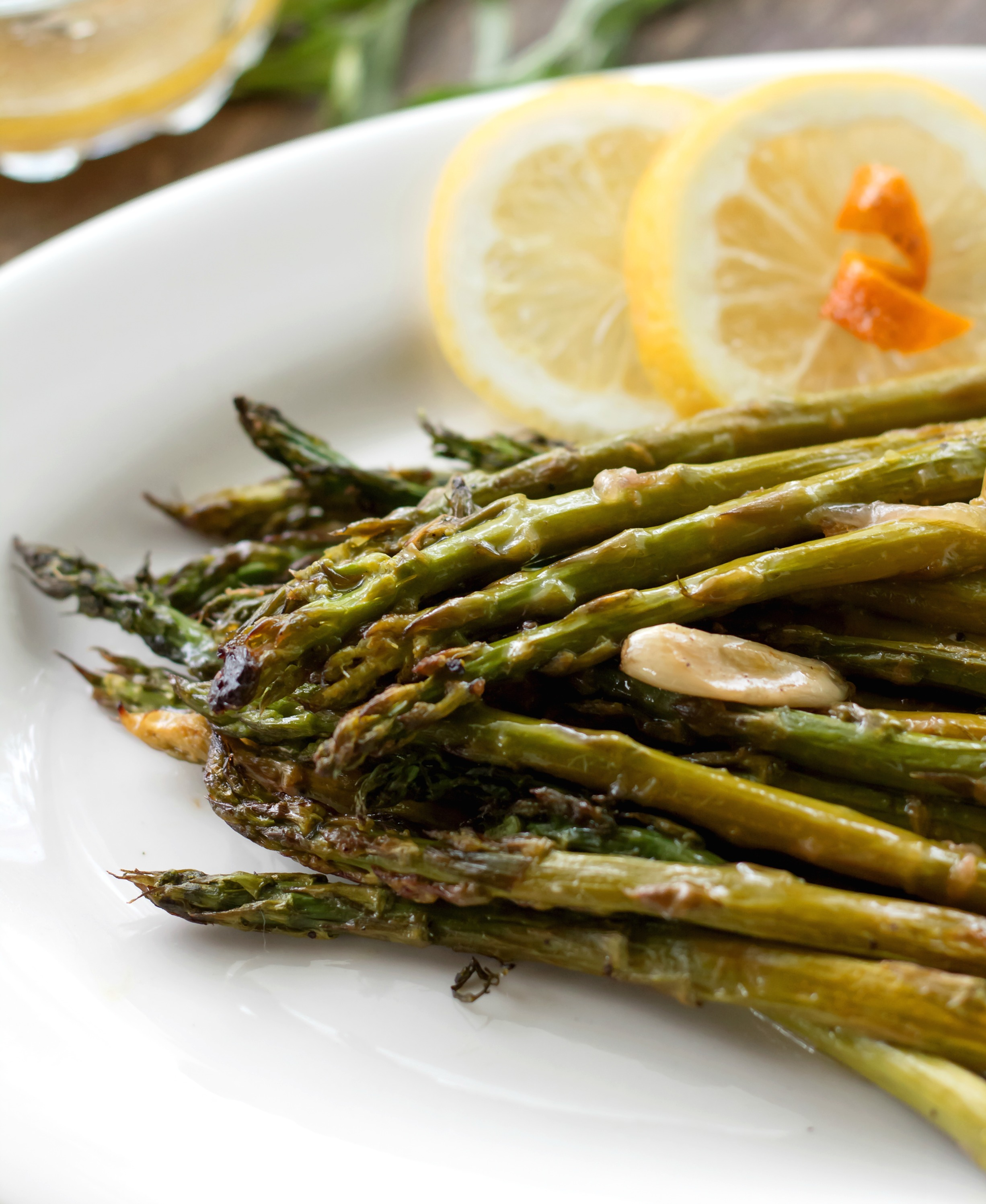 Citrus Roasted Asparagus with Vinaigrette