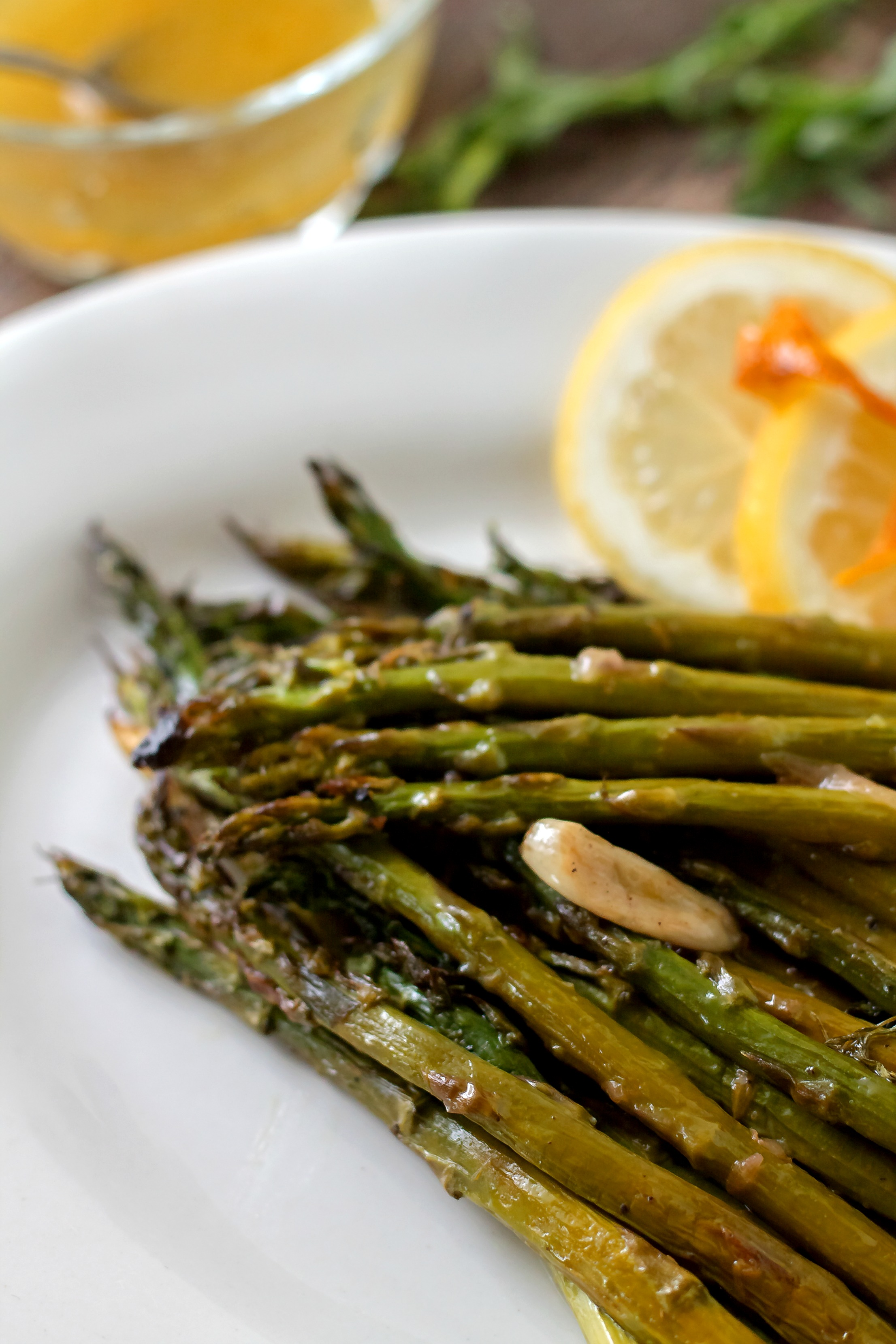 Citrus Roasted Asparagus and Vinaigretta