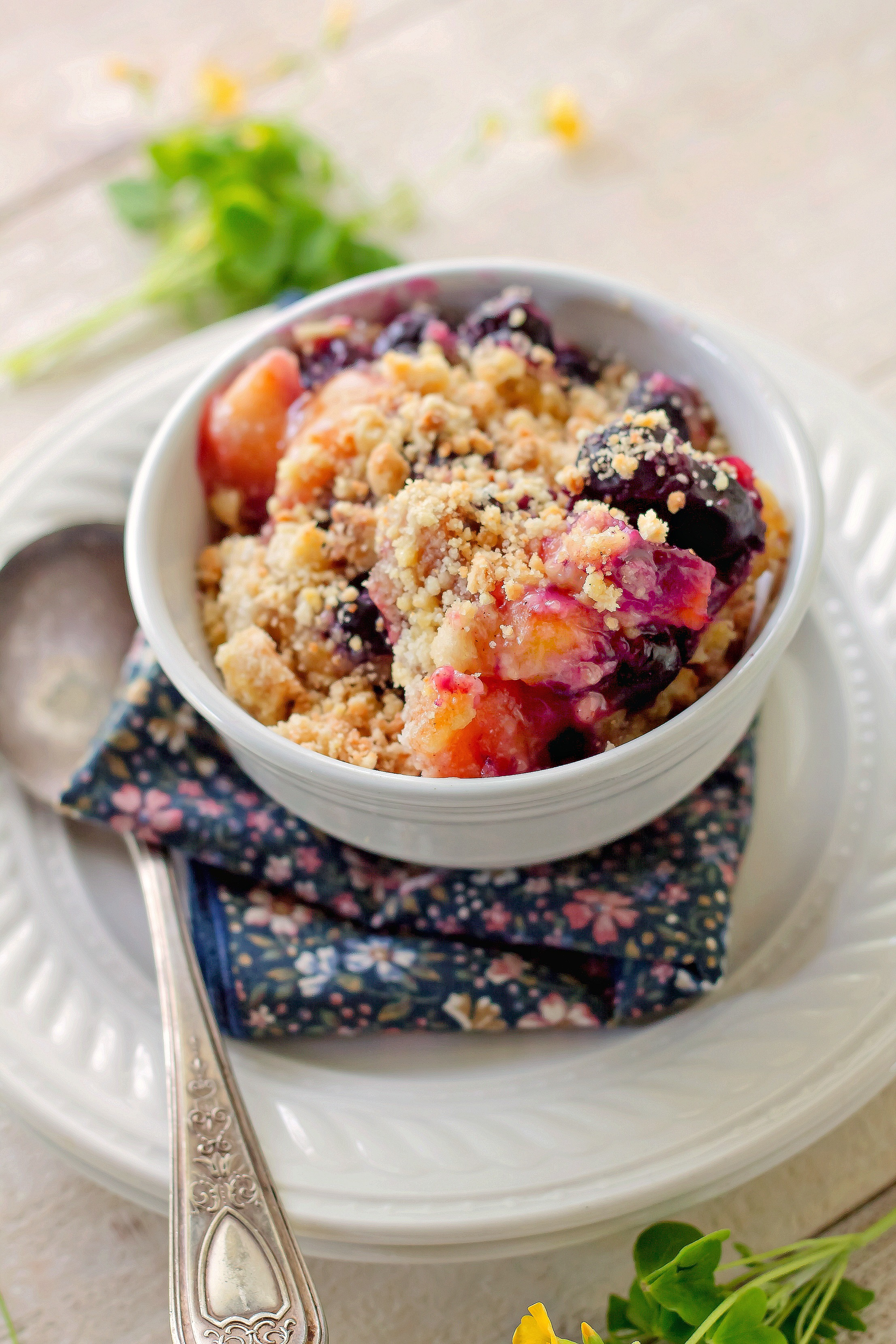 Old Fashioned Peach Blueberry Dessert