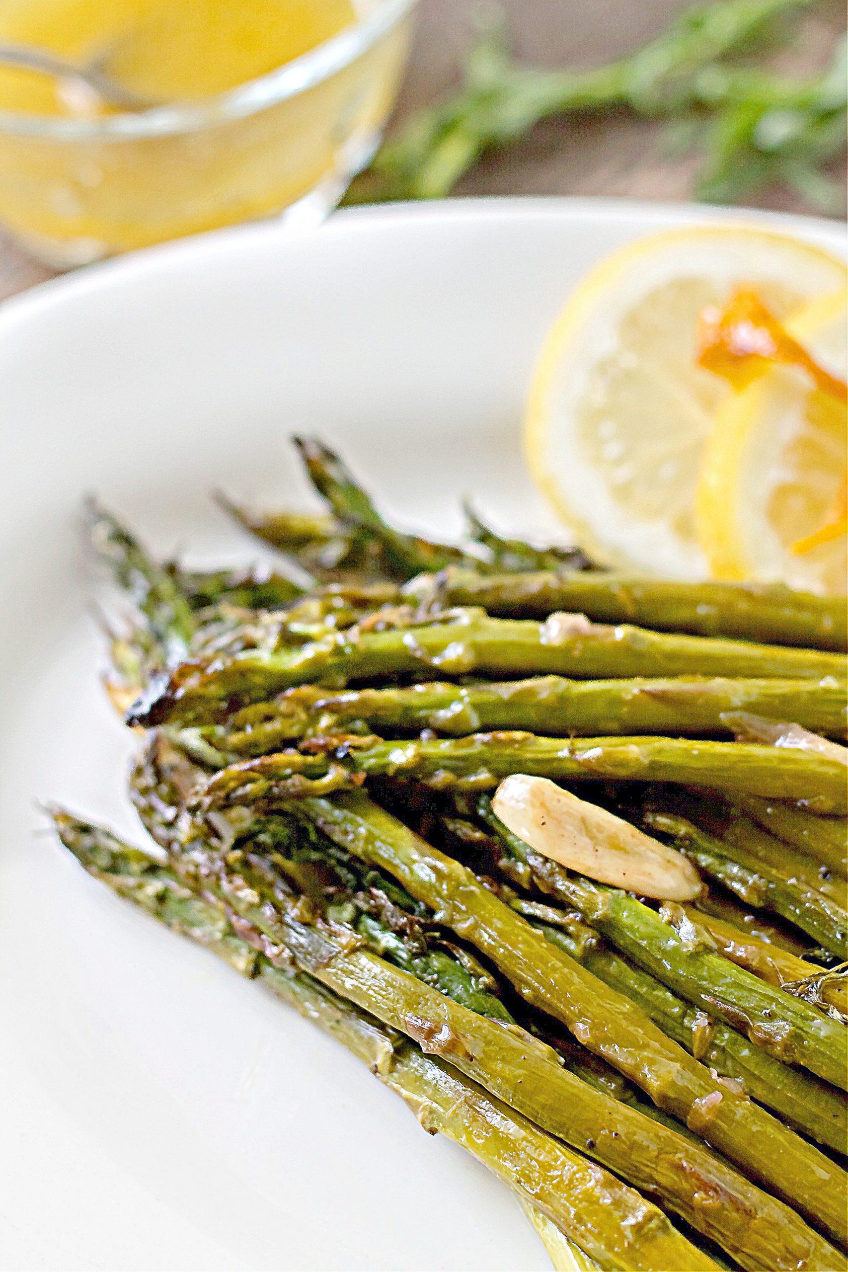 Citrus Roasted Asparagus with Vinaigrette