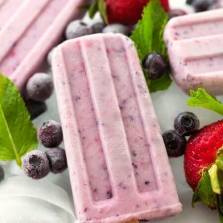 Berry Yogurt Popsicles