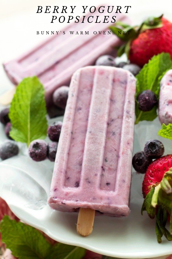 blueberry popsicles with yogurt