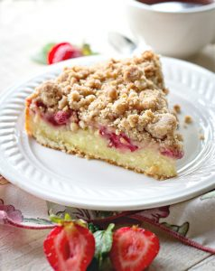 Strawberry Coffee Cake with Crumb Topping