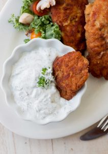 Chicken Tenders with Dill Sour Cream Dipping Sauce