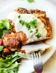 Fried Pork Chops with Milk Gravy