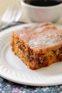 Pumpkin Honey Bun Cake