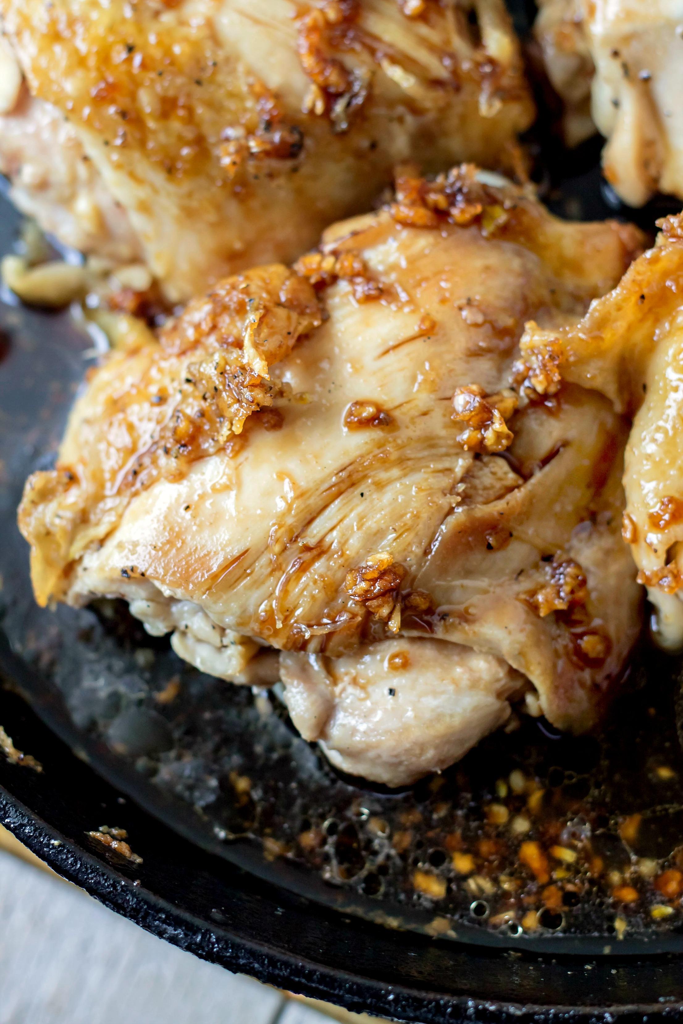 Glazed Soy Sauce Brown Sugar Chicken Thighs