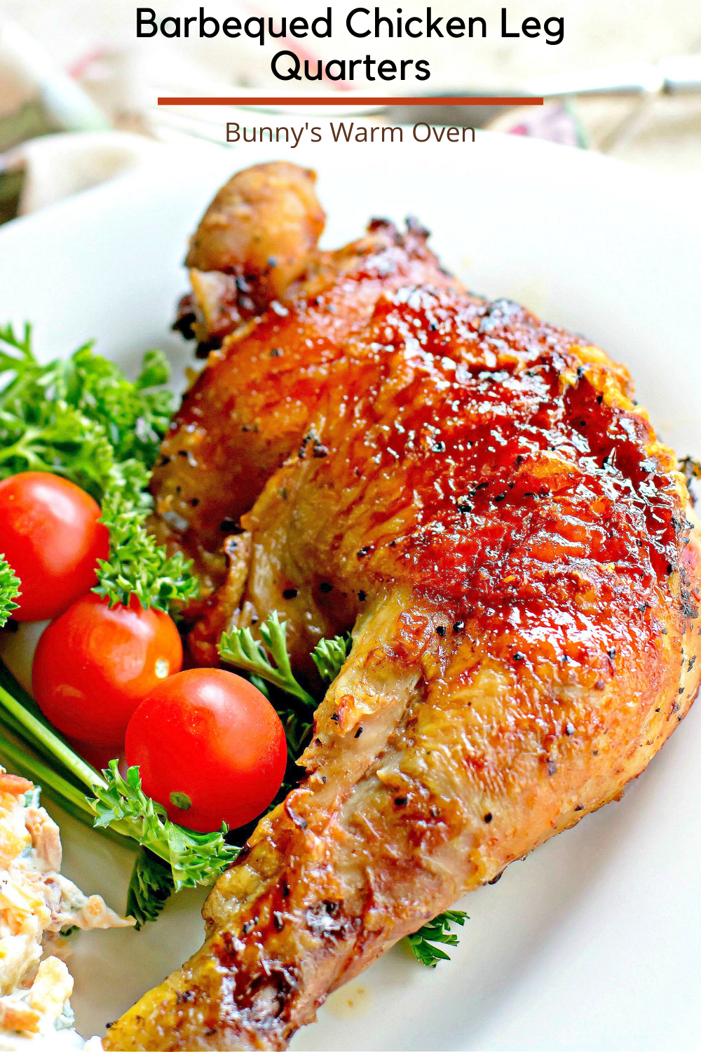 Barbecued Chicken Leg Quarters