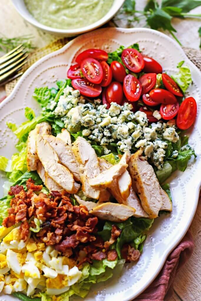 Cobb Salad with Cream Avocado Dressing