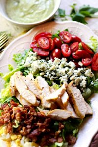 Cobb Salad with Creamy Avocado Salad Dressing