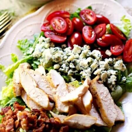 Cobb Salad with Creamy Avocado Salad Dressing