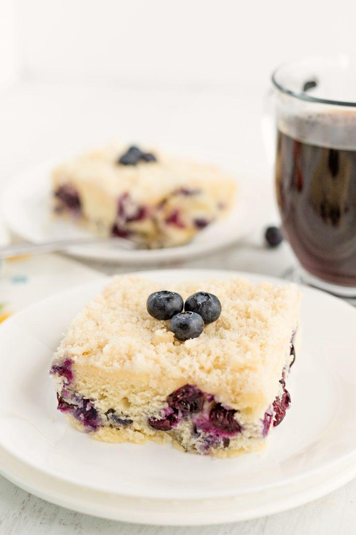 Eight Inch Blueberry Cream Cheese Coffee Cake