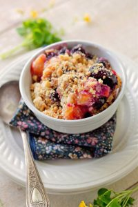 Old Fashioned Peach Blueberry Dessert