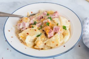 Ham and Scalloped Potato Casserole