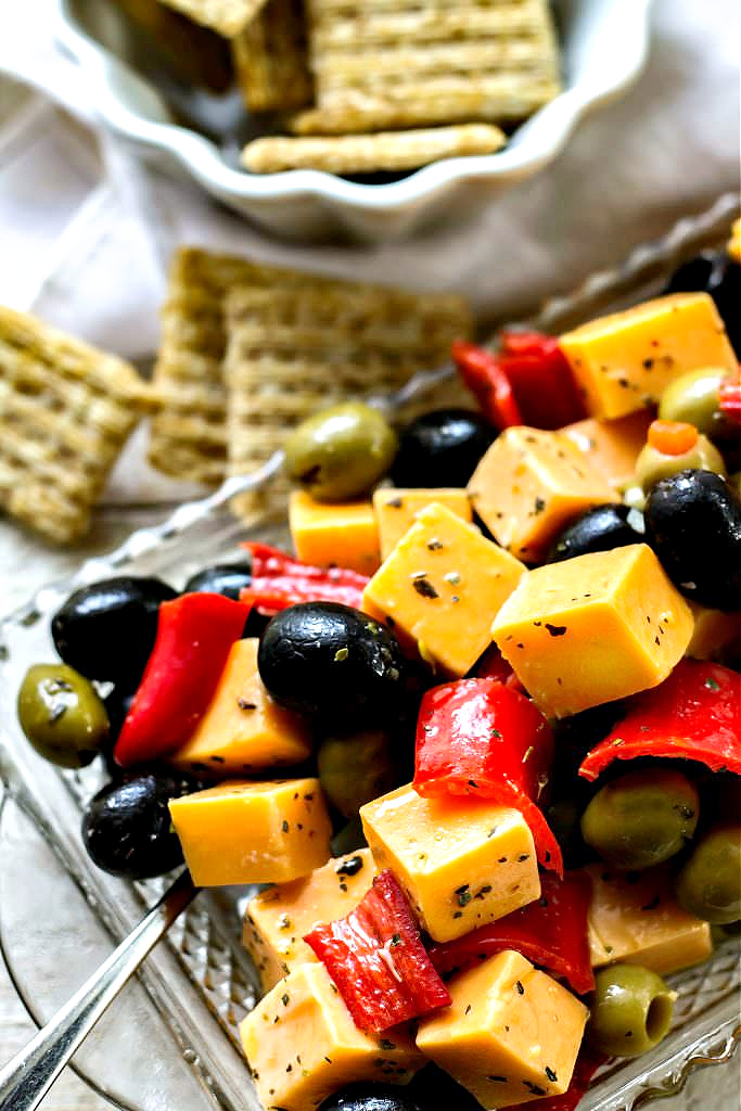 Marinated Cheese Peppers and Olives