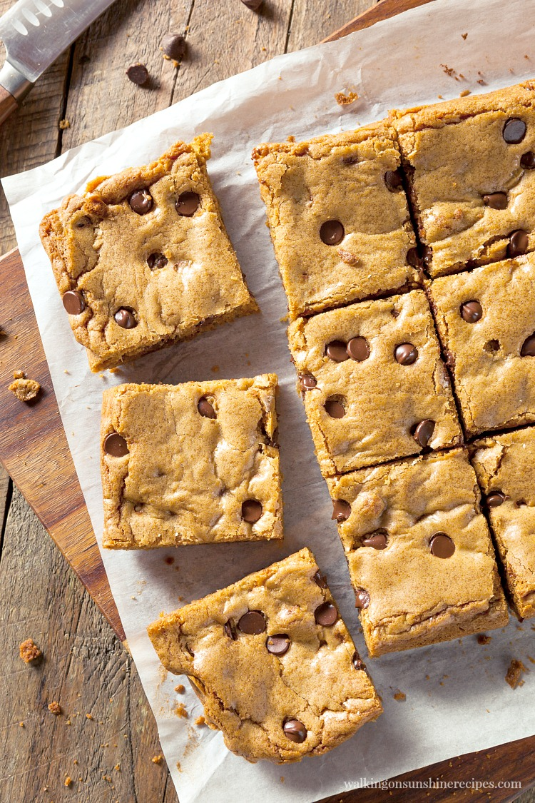 Chocolate Chip Bars from a Cake Mix