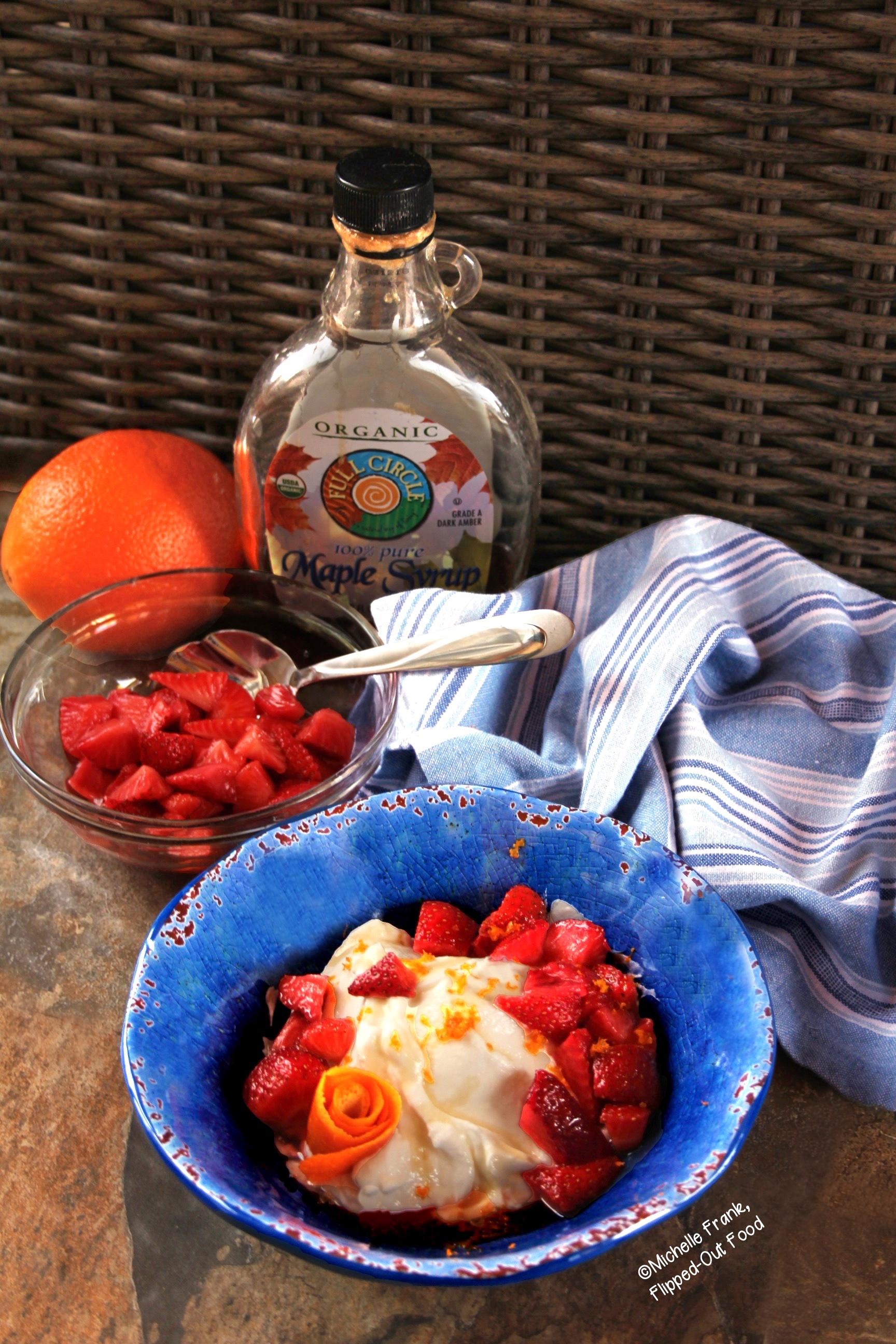 Orange Strawberry Dessert Bowls