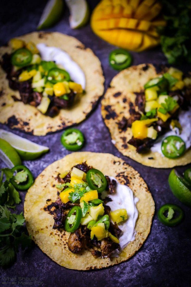 Pork Carnitas with Pineapple Mango Salsa