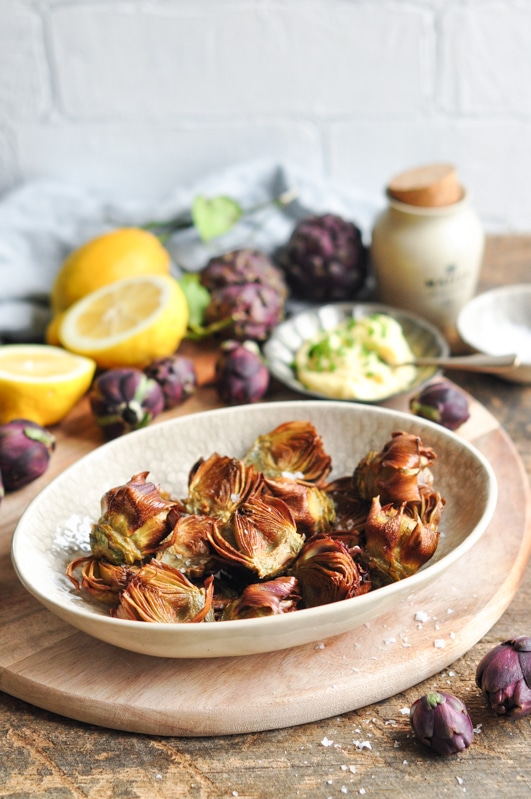 Roman-Style Fried Artichokes with Herbed Mayonnaise