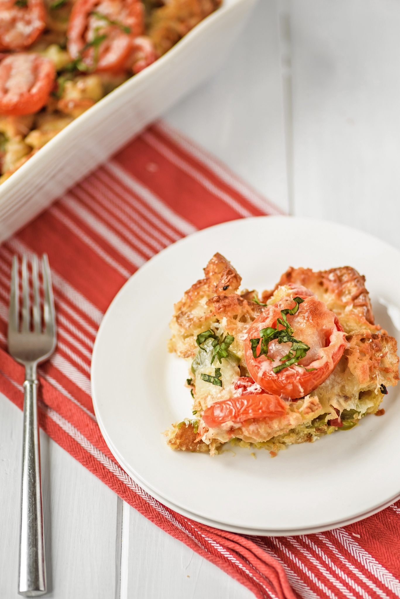 Tomato Mozzarella Parmesan Bake