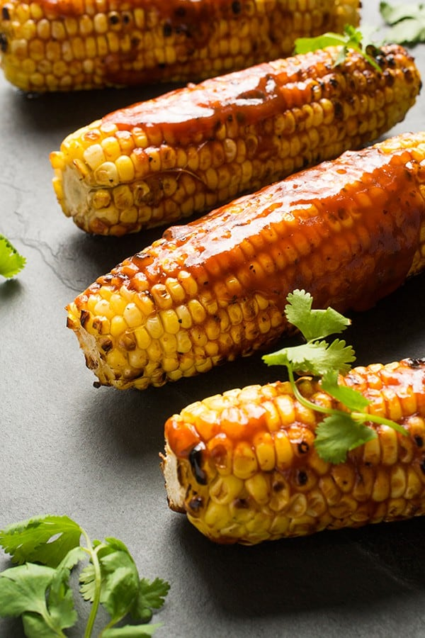 Grilled Corn with Barbecue Sauce